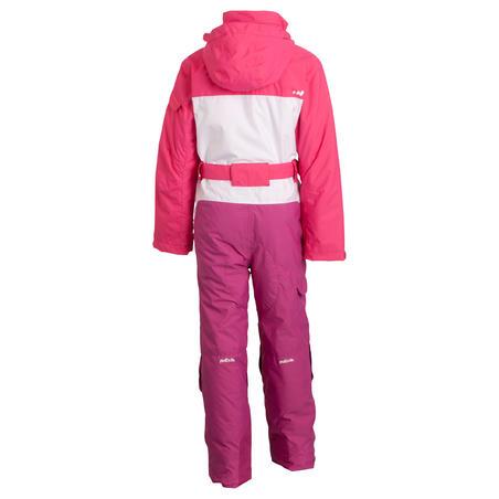 Wed'ze Evoslide Girls' Ski Suit - Pink / White