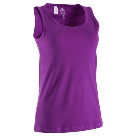 d bardeur en coton biologique gym douce yoga femme violet domyos by decathlon. Black Bedroom Furniture Sets. Home Design Ideas