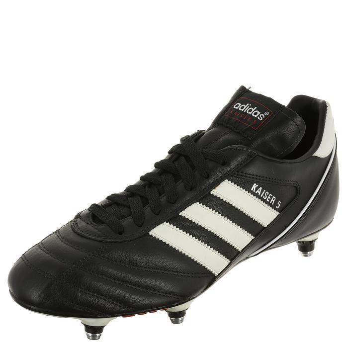 41a465379 Botas de fútbol adulto Kaiser Cup SG negro Adidas   Decathlon