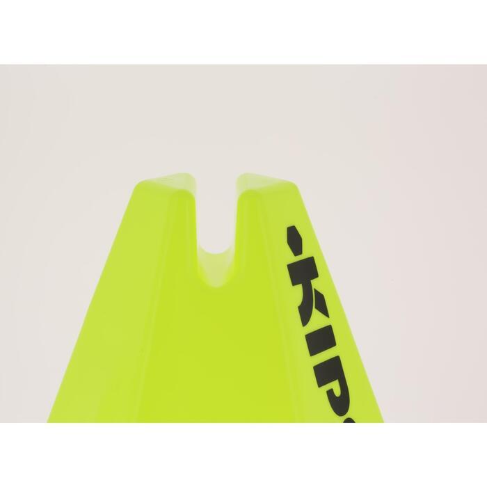 Lot 6 cônes modulables 15 cm jaunes - 295539