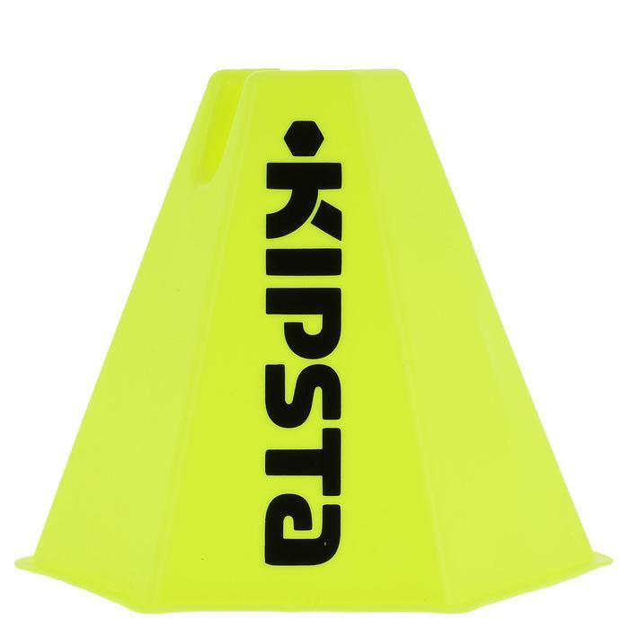 Lot 6 cônes modulables 15 cm jaunes - 295544