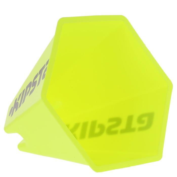 Lot 6 cônes modulables 15 cm jaunes - 295545