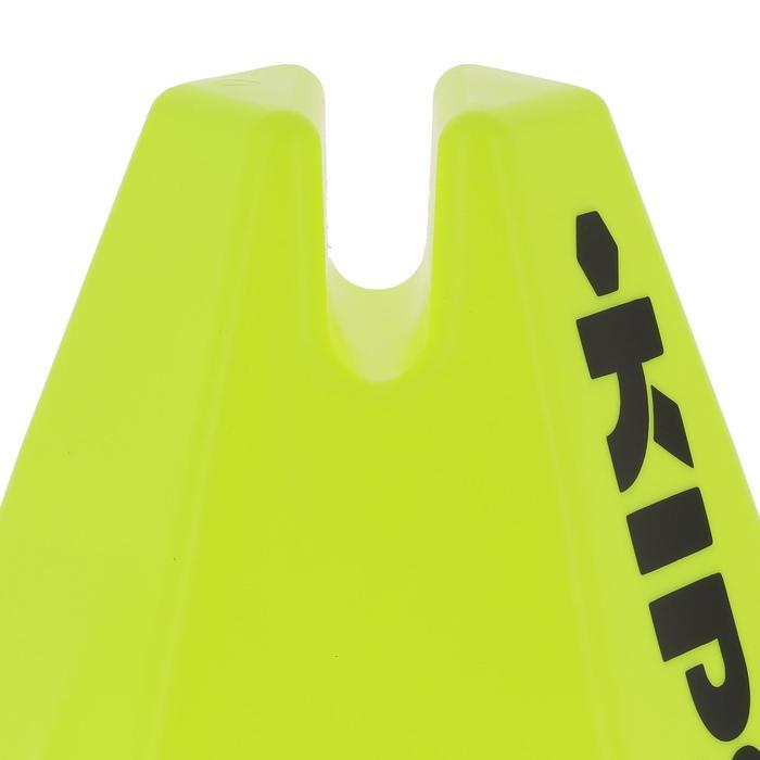 Lot 6 cônes modulables 15 cm jaunes - 295547