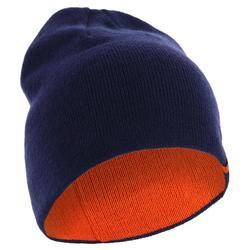 雙面戴式滑雪運動帽 - 橘色/藍色
