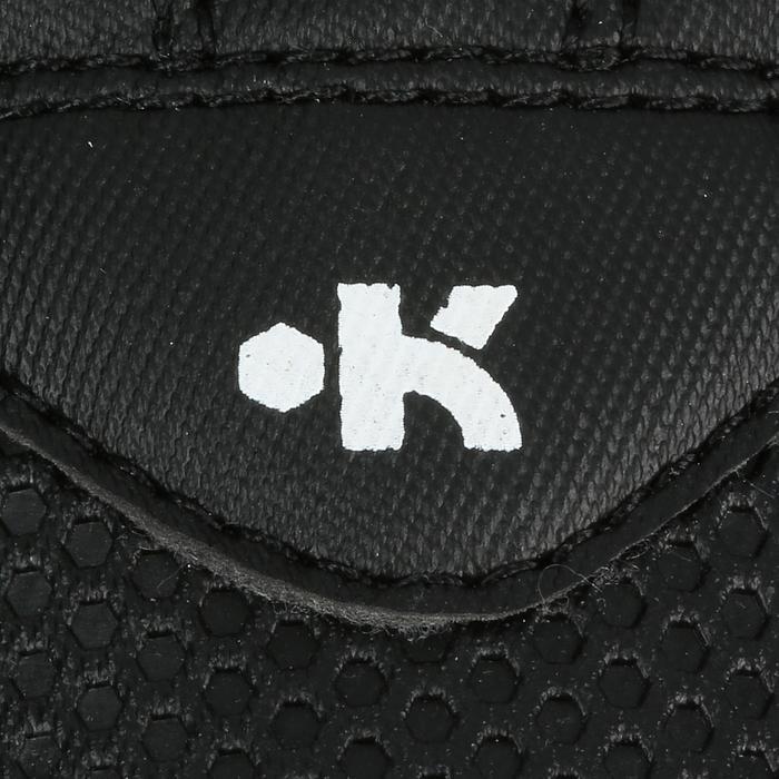 Rugbyschoenen Attraction 300 FG droog terrein kinderen klittenband zwart geel