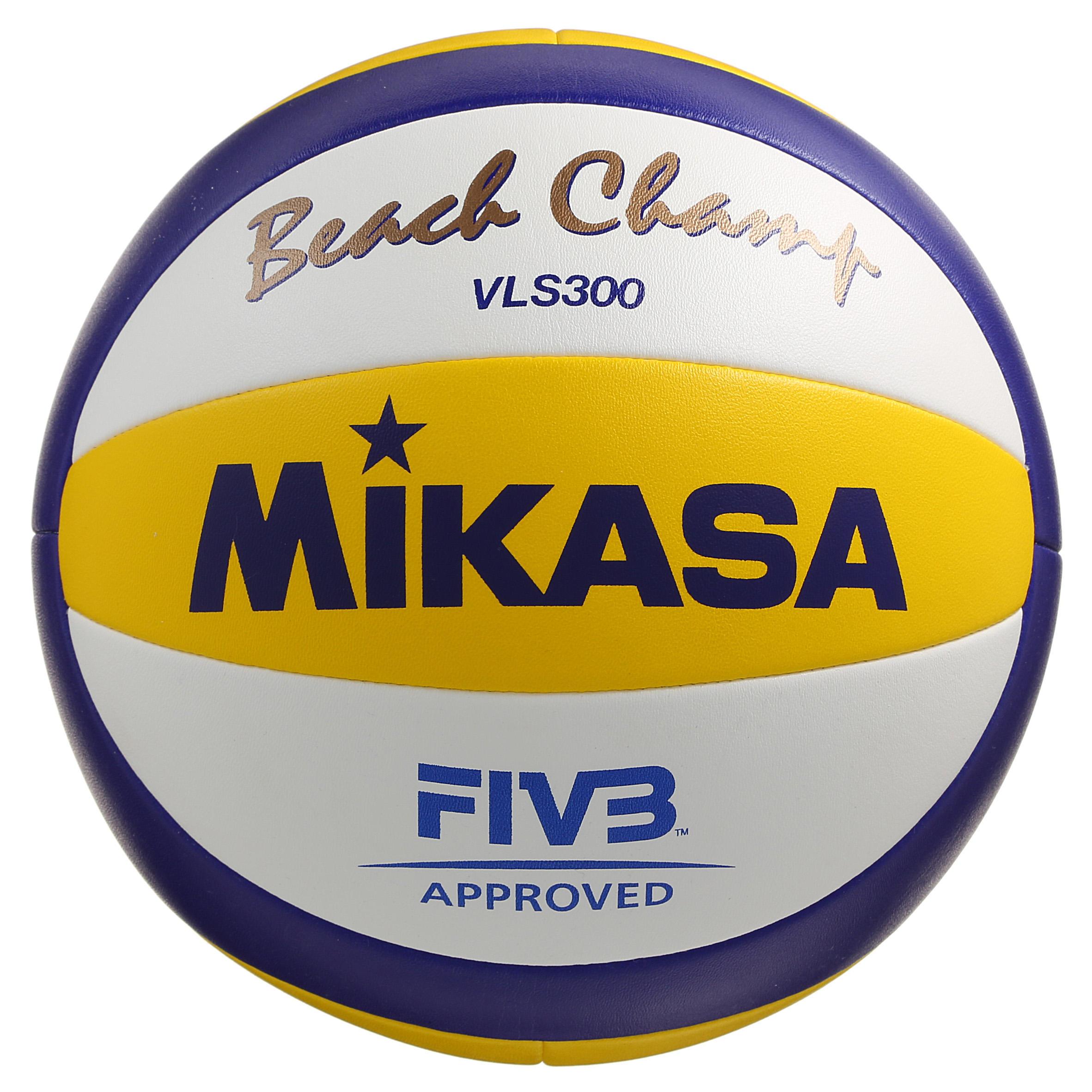 Bal voor beachvolleybal Beach Champ II wit-geel-blauw