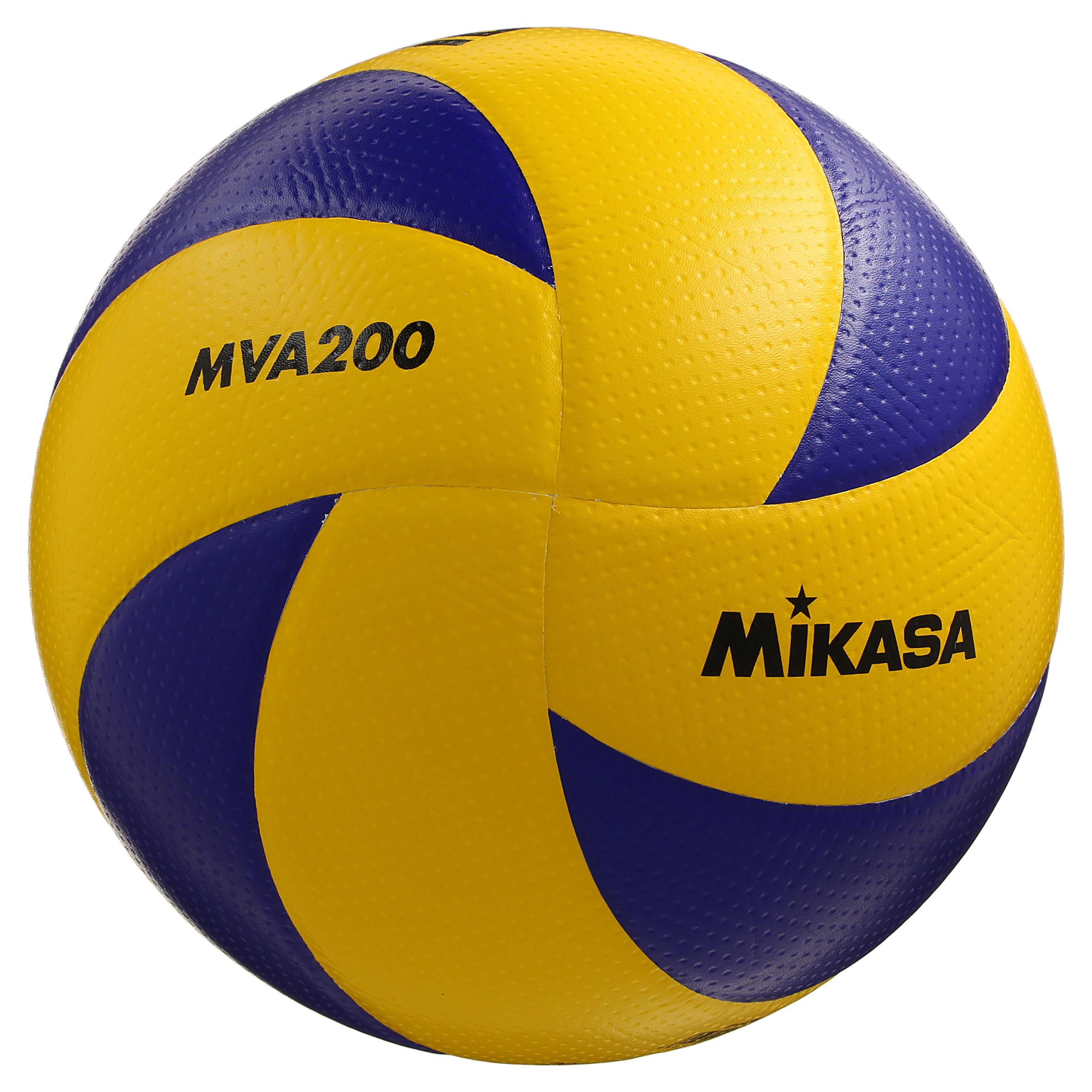 Mikasa Volleybal MVA 200 maat 5 geel/blauw
