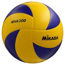 Ballon de volley-ball MVA 200 jaune bleu