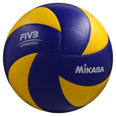 Ballon de volley-ball MVA 200 jaune bleu