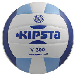 Volleybal V300 maat 5 wit/blauw