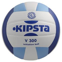 Balón de voleibol V300 blanco y azul