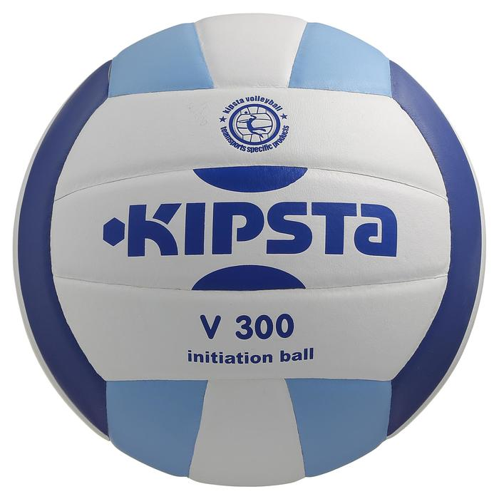 Ballon de volley-ball V300 blanc et bleu - 298110