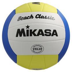 Beachvolleybal Beach Classic maat 5 geel/wit