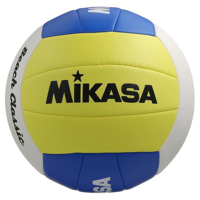 Ballon de beach volley Beach Classic jaune et blanc - 298207