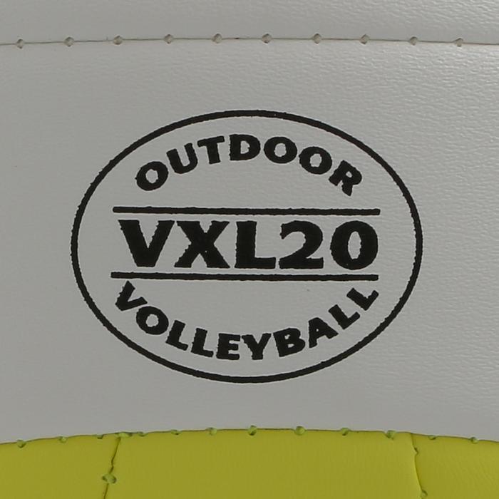 Ballon de beach volley Beach Classic jaune et blanc - 298211