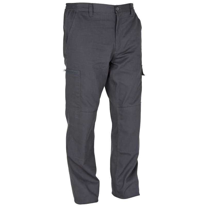 TROUSERS/SHIRTS Shooting and Hunting - Steppe 300 trousers grey SOLOGNAC - Hunting and Shooting Clothing