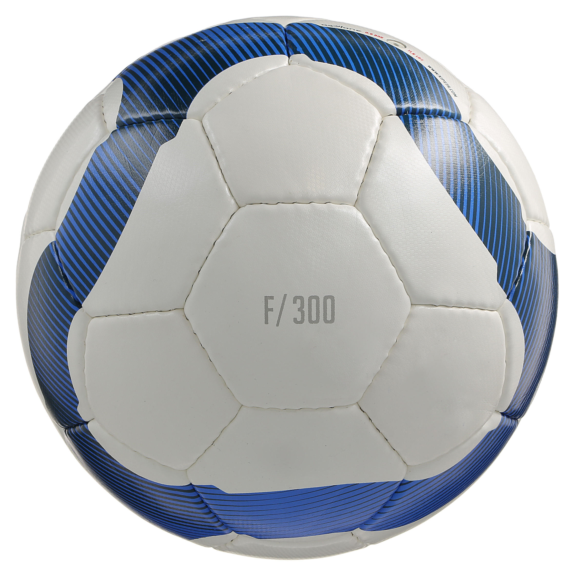 Football Ball Size 5 F300 - White/Blue
