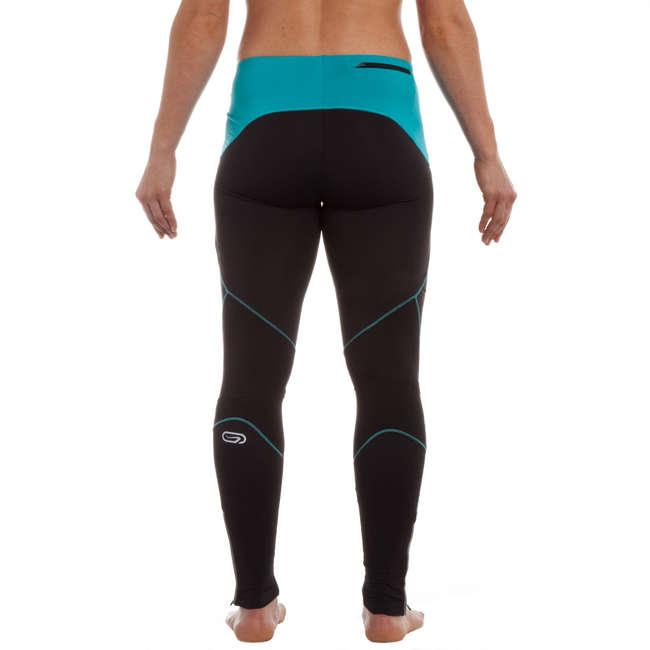 KALENJI WOMEN'S WINTER RUNNING TIGHTS BLACK BLUE | Decathlon