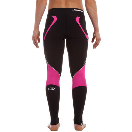KIPRUN WOMEN'S STRETCH RUNNING TIGHTS - BLACK PINK