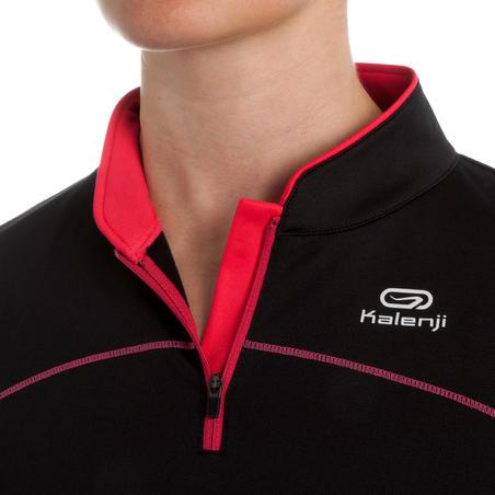 Ekiden Women's Warm Long Sleeved Running Jersey - Black/Pink