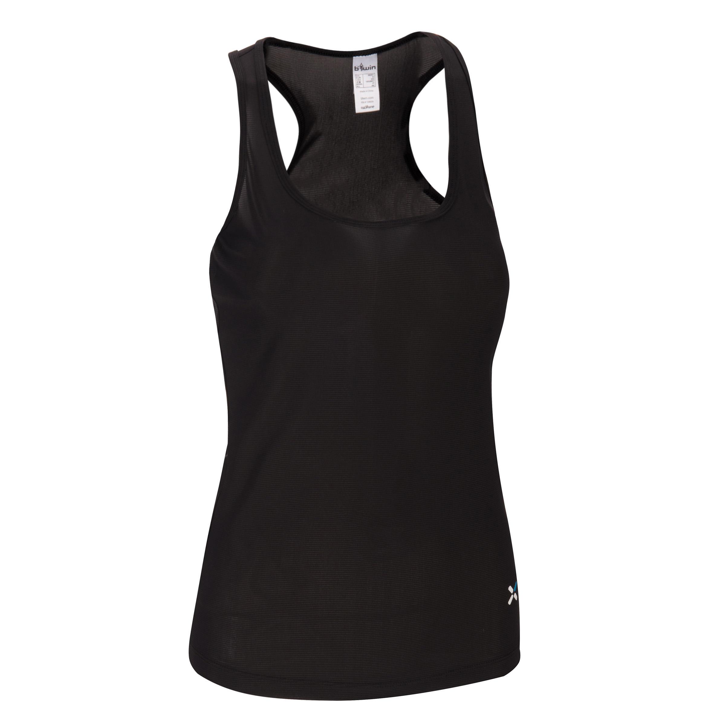 Sous-vêtement sans manches vélo femme 300 noir