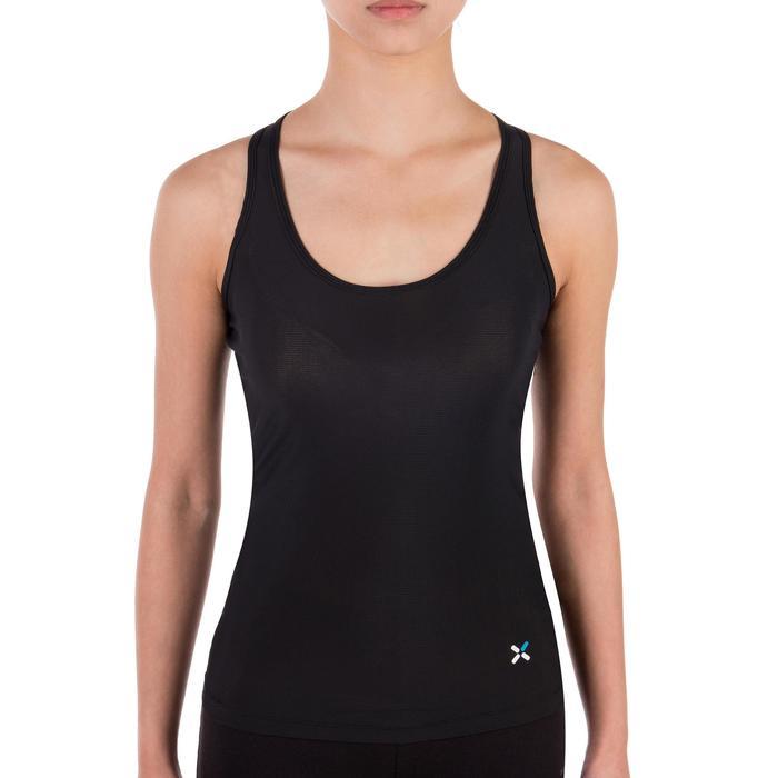 Ondershirt zonder mouwen wielersport dames zwart