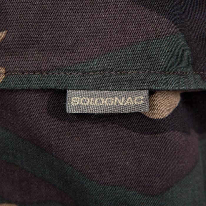 Pantalón Caza Solognac Steppe 300 Camuflaje MIlitar Woodland Verde