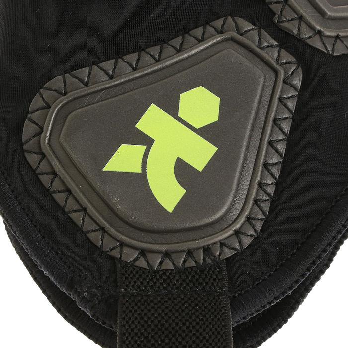 Protège-tibias de football adulte F700 noir jaune - 300287