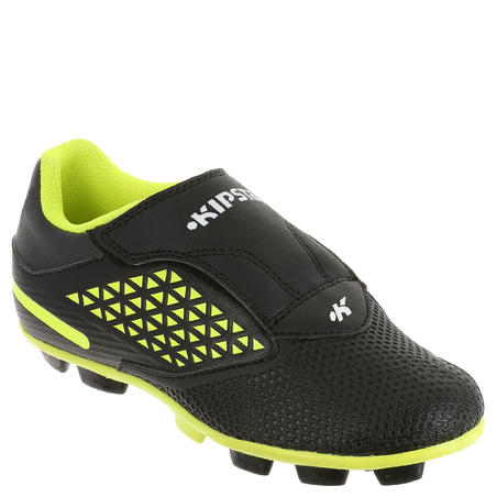 Kids' Rugby Moulded Boots Skill R100 FG - Yellow/Black
