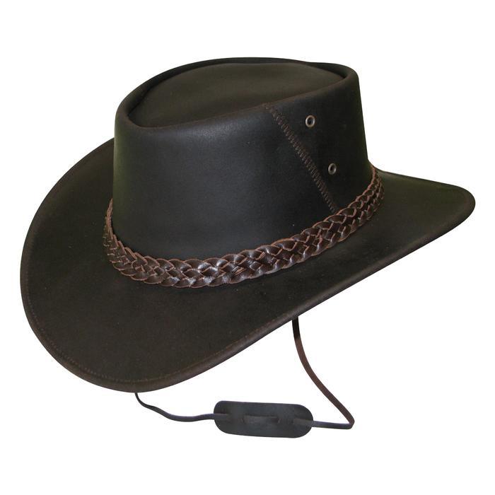 Sombrero Equitación Bandjo Adulto Marrón de Cuero