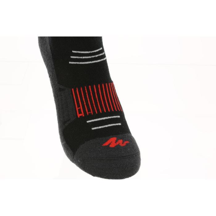 Wandelsokken volwassenen sneeuw SH520 X-warm mid zwart rood.