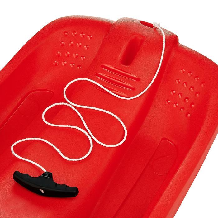 Luge plateau rouge enfant avec freins