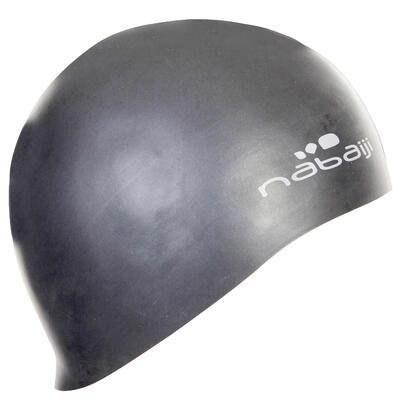 100 Thin Silicone Swim Cap - Grey
