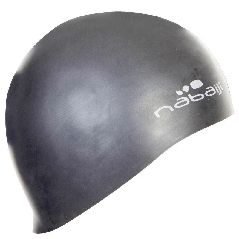 100 Thin Silicone Swim Cap - Grey