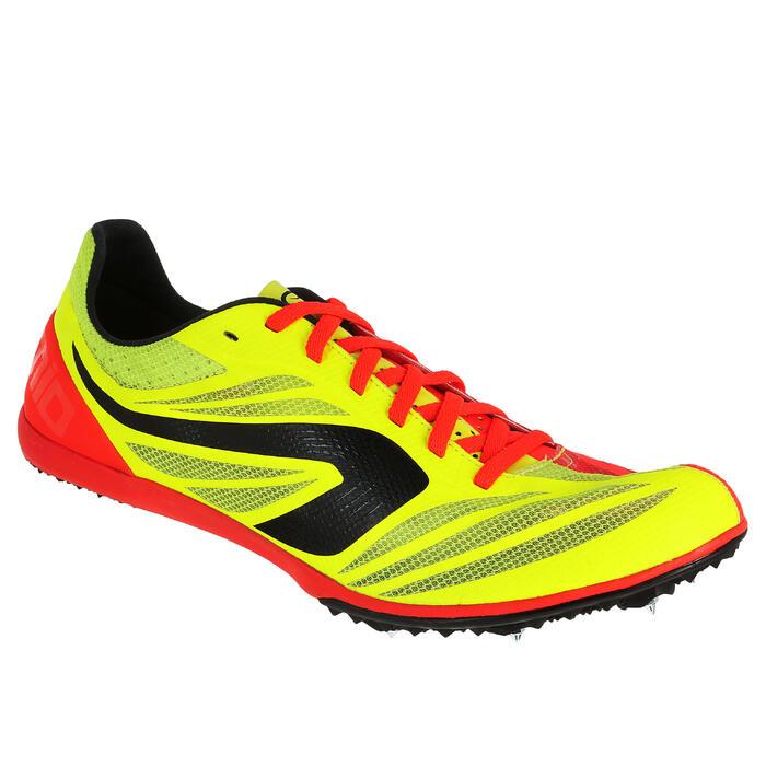 Atletiekschoenen middellange afstand AT mid geel/oranje