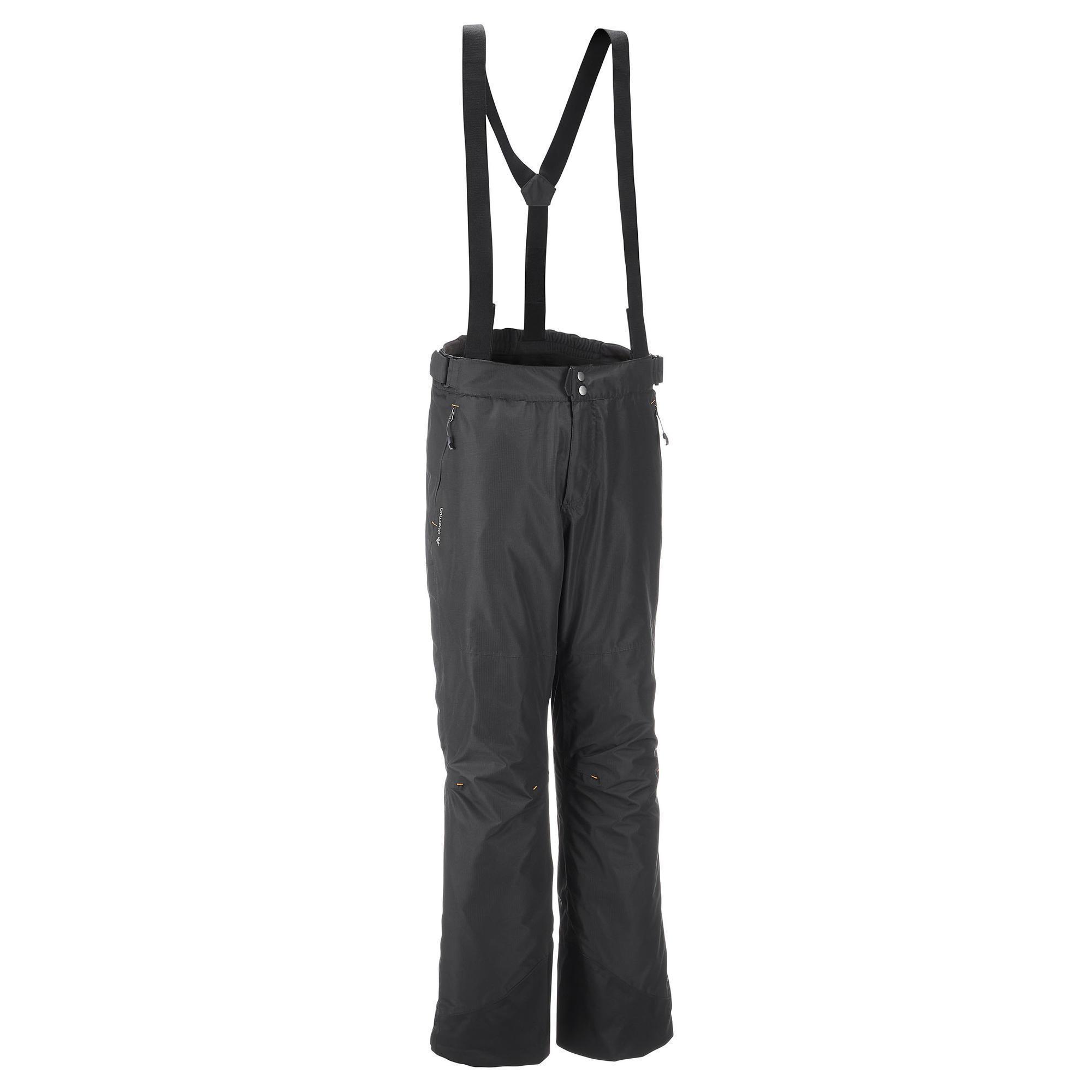 sur pantalon pluie imperm able randonn e homme forclaz 100 noir quechua. Black Bedroom Furniture Sets. Home Design Ideas