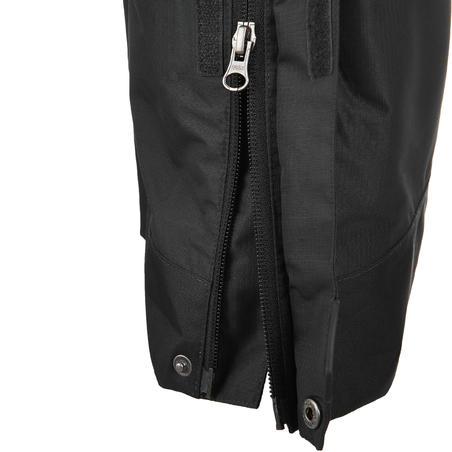MH500 Men's Waterproof Mountain Hiking Rain Over-Trousers - Black