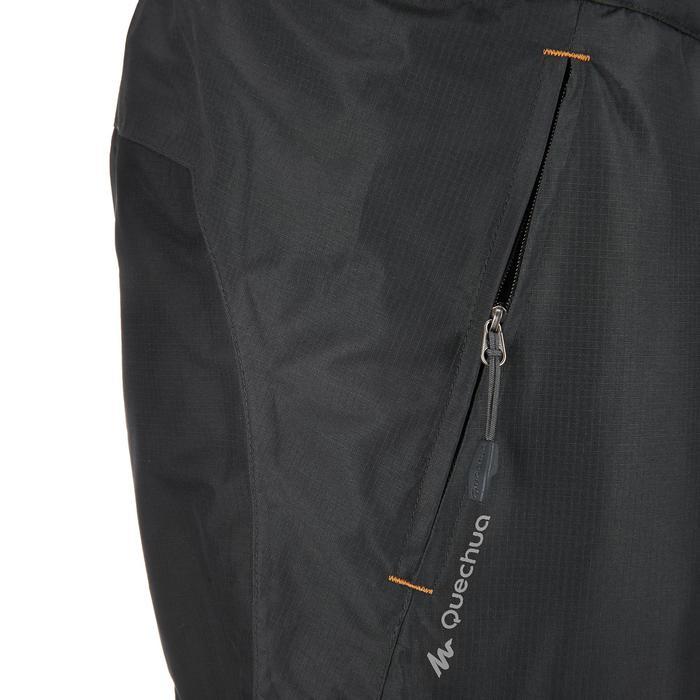 MH500 Men's Waterproof Mountain Hiking Rain Over-Trousers - Black - 3075