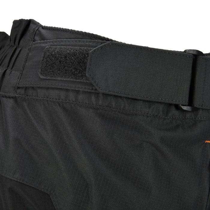 MH500 Men's Waterproof Mountain Hiking Rain Over-Trousers - Black - 3076