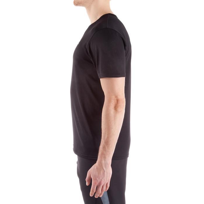 Fitness T-shirt FTS100 voor heren, voor cardiotraining, zwart