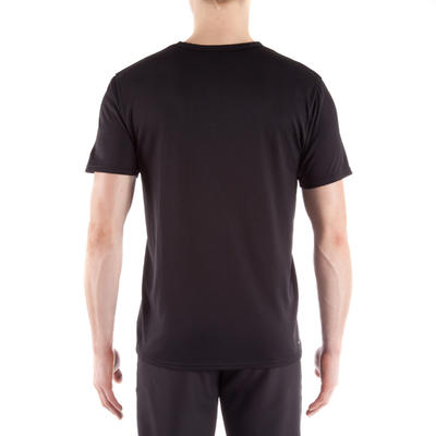 T-shirt fitness homme noir FTS 100