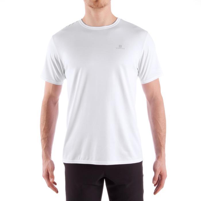 Fitness T-shirt FTS100 voor heren, voor cardiotraining, wit