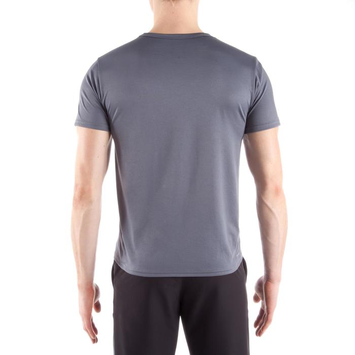 T-Shirt 100 Fitness Cardio Herren grau
