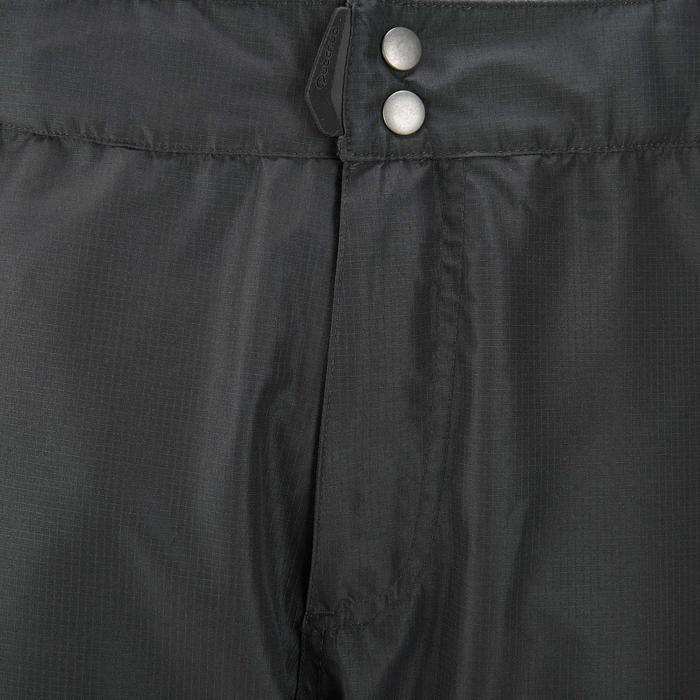 男款防水登山健行防雨長褲MH500 - 黑色
