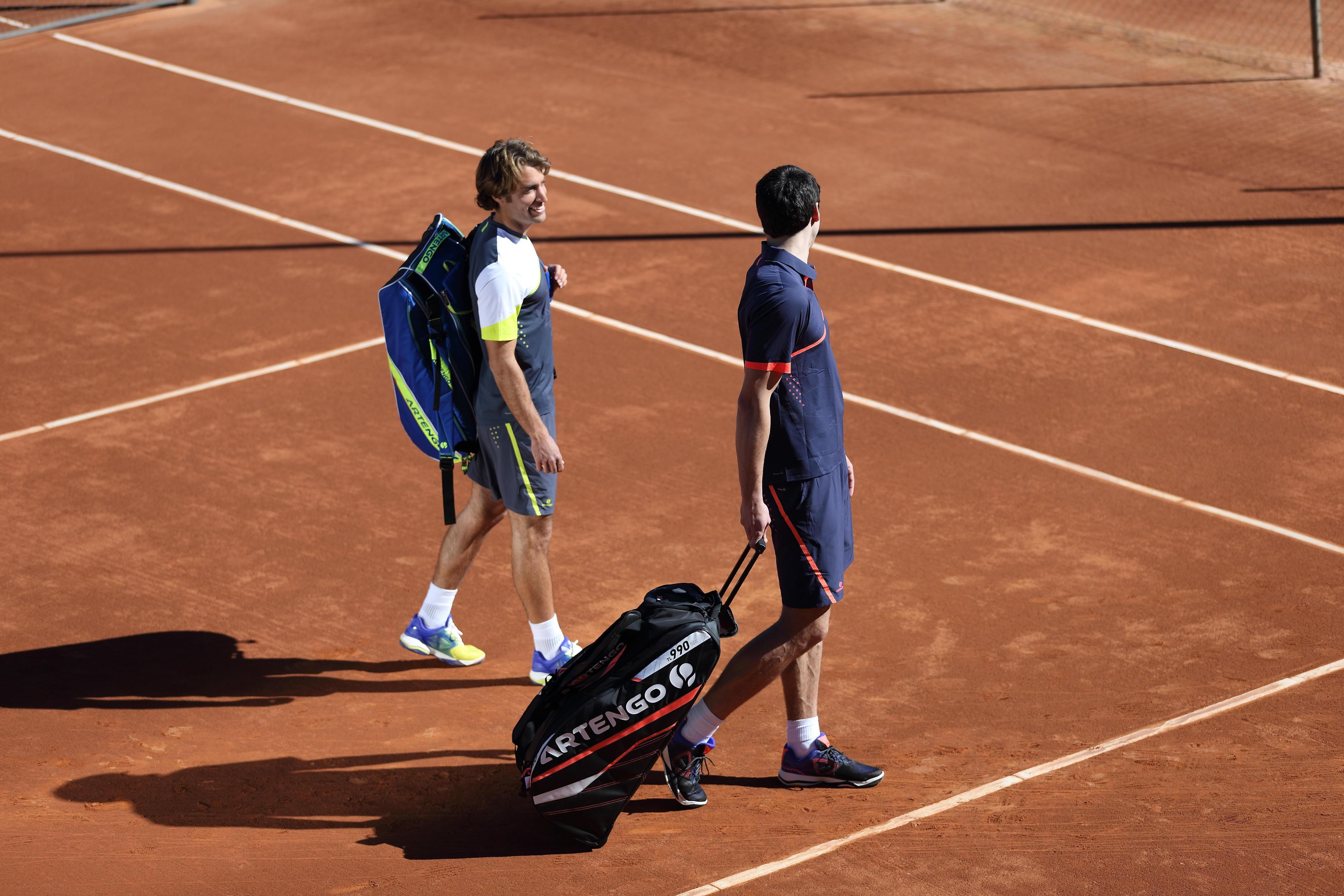 Bag Badminton/Tennis/Squash - Black/Coral