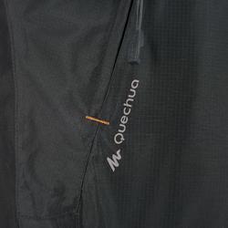 Waterdichte regenbroek voor heren, voor wandelen, Forclaz 100 zwart - 3082