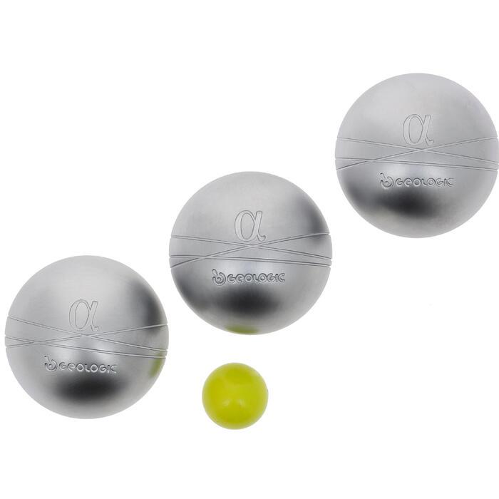 3 veelzijdige petanqueballen Alpha