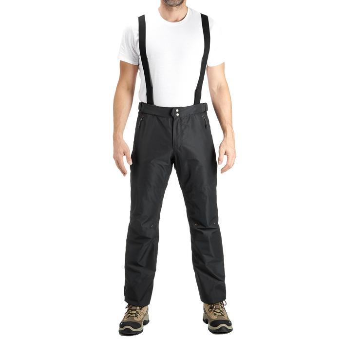 MH500 Men's Waterproof Mountain Hiking Rain Over-Trousers - Black - 3087