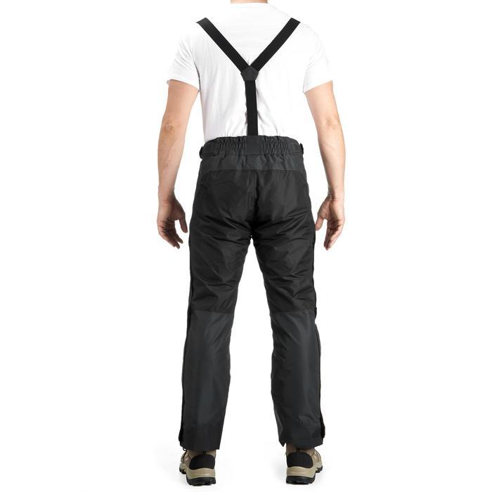 MH500 Men's Waterproof Mountain Hiking Rain Over-Trousers - Black - 3092