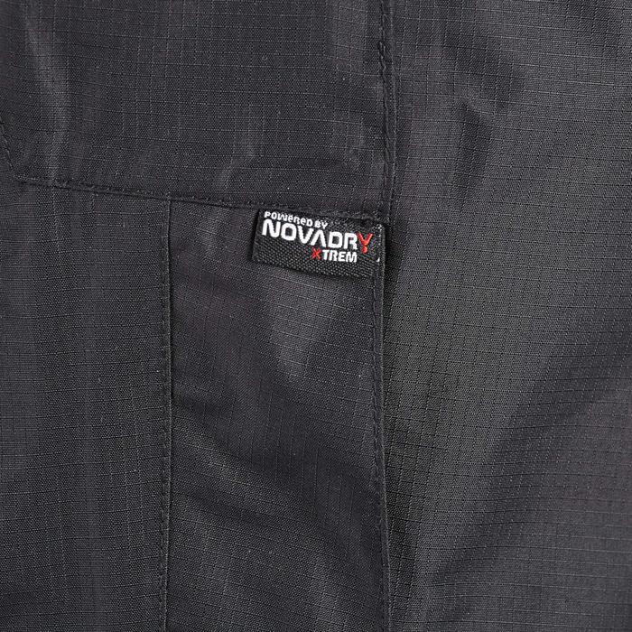 MH500 Men's Waterproof Mountain Hiking Rain Over-Trousers - Black - 3093